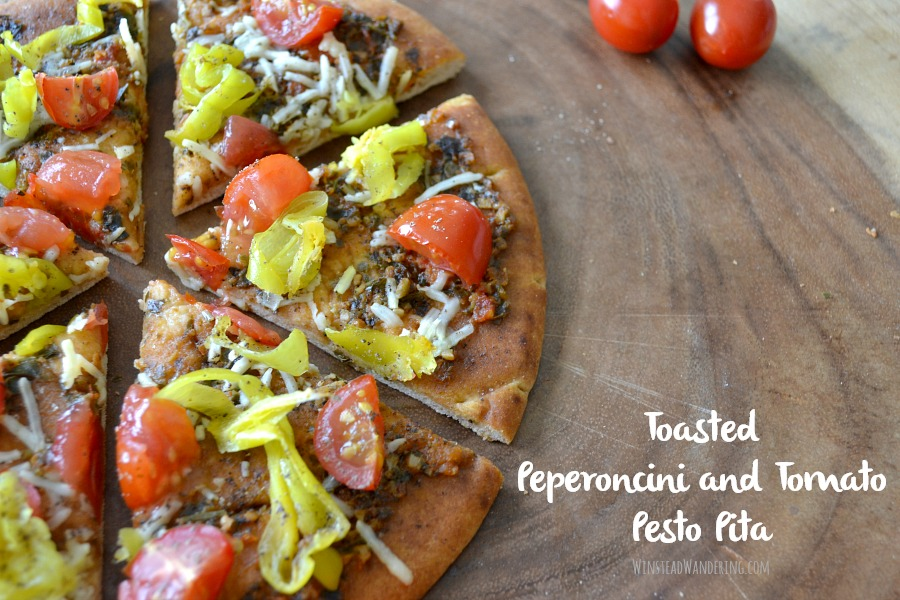 Need a last-minute appetizer or a quick lunch? Toasted Peperoncini and Tomato Pesto Pita, with two kinds of pesto, plump tomatoes, and the unexpected brightness of peperoncini, is the perfect easy recipe.