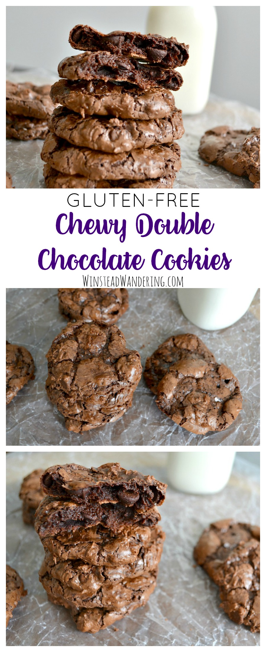 You won't miss the flour in these delightfully chewy, perfectly fudgy, beautifully crinkly Gluten-Free Double Chocolate Cookies. With just six ingredients, you can whip up a batch in no time.