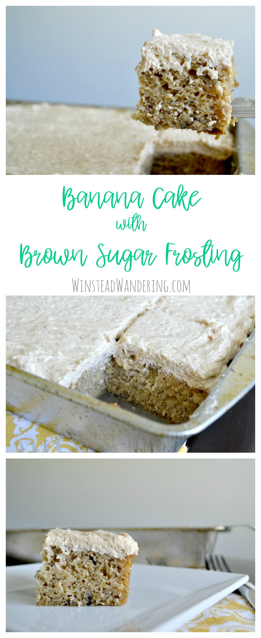 Forget boring banana bread; put those overripe bananas to good use by making this moist and perfectly-sweet Banana Cake with Brown Sugar Frosting.