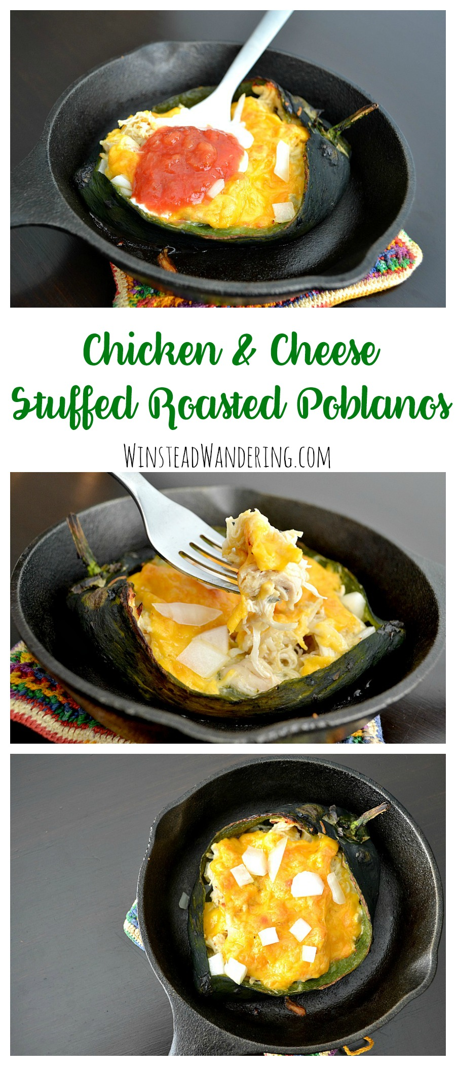 For an easy weeknight meal that's low carb, gluten-free and, most importantly, ridiculously tasty, look no further than Chicken and Cheese Stuffed Roasted Poblanos.