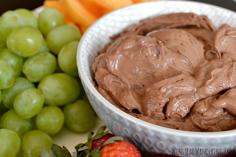 Skip the bland and boring store-bought options and make this rich, decadent and perfectly sweet Chocolate Cream Cheese Fruit Dip instead.