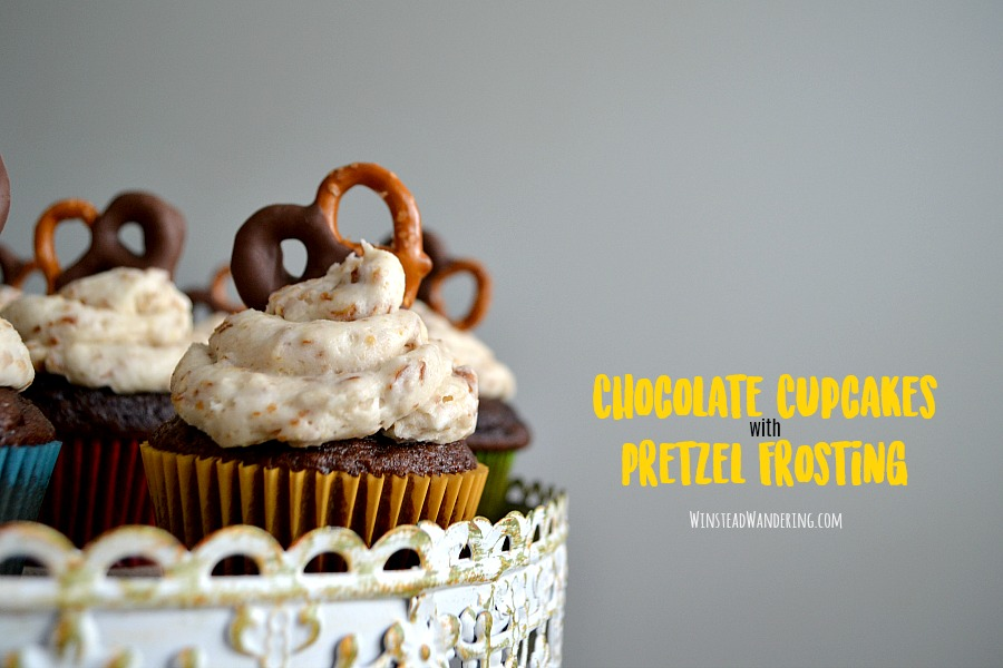 For an adorable treat that's the perfect combination of salty and sweet, bake up these rich and decadent Chocolate Cupcakes with Pretzel Frosting.