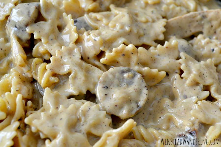 A grown-up take on a classic childhood dish, Creamy Sausage Macaroni and Cheese is as hearty and satisfying as it is easy and simple.