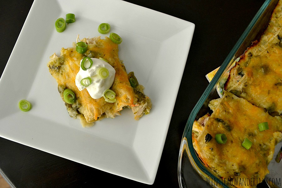 Green Chile Chicken Enchiladas | Winstead Wandering