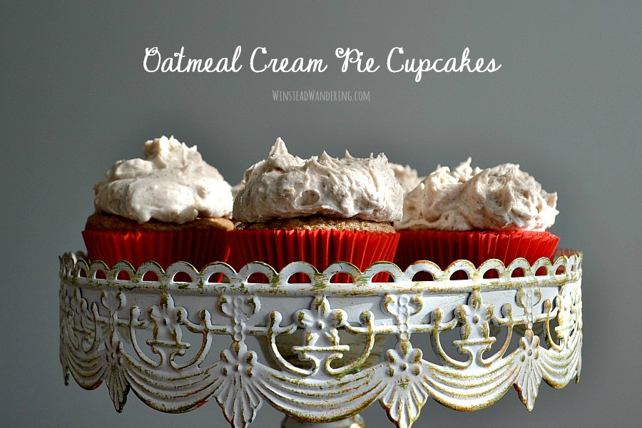With a tender, flavor-packed cupcake and real cookie chunks in the frosting, Oatmeal Cream Pie Cupcakes are the perfect decadent treat.