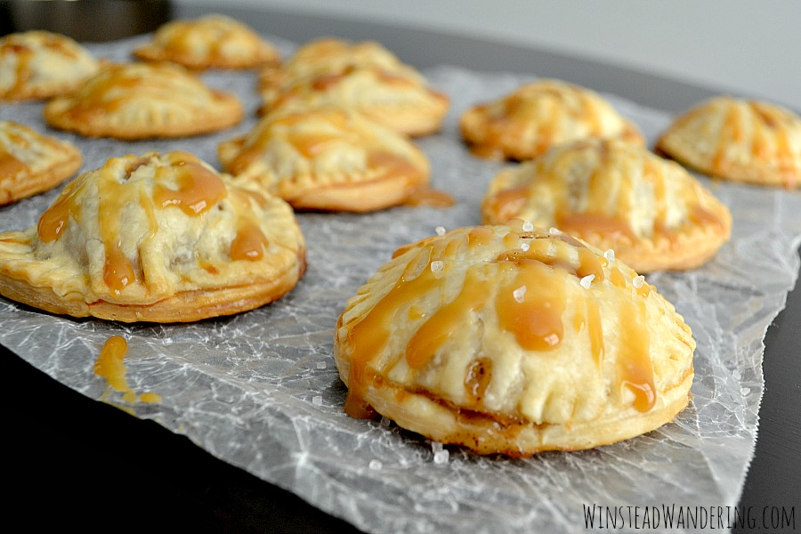 Made with flaky pie crust and chunks of caramel, Salted Caramel Apple Hand Pies are an adorable, mouthwatering version of the favorite holiday dessert.