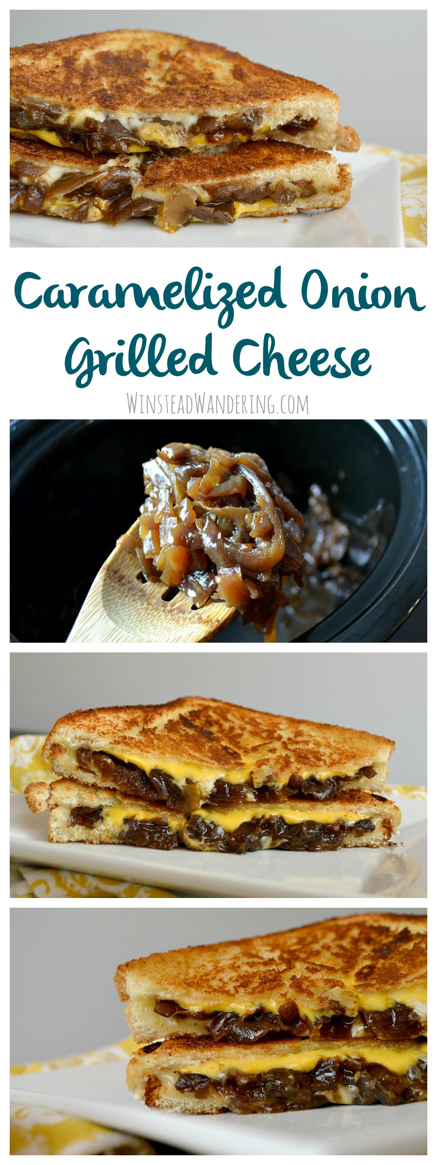Step up your toasted sandwich game by making gooey, sweet, savory, and unique Caramelized Onion Grilled Cheese Sandwiches.