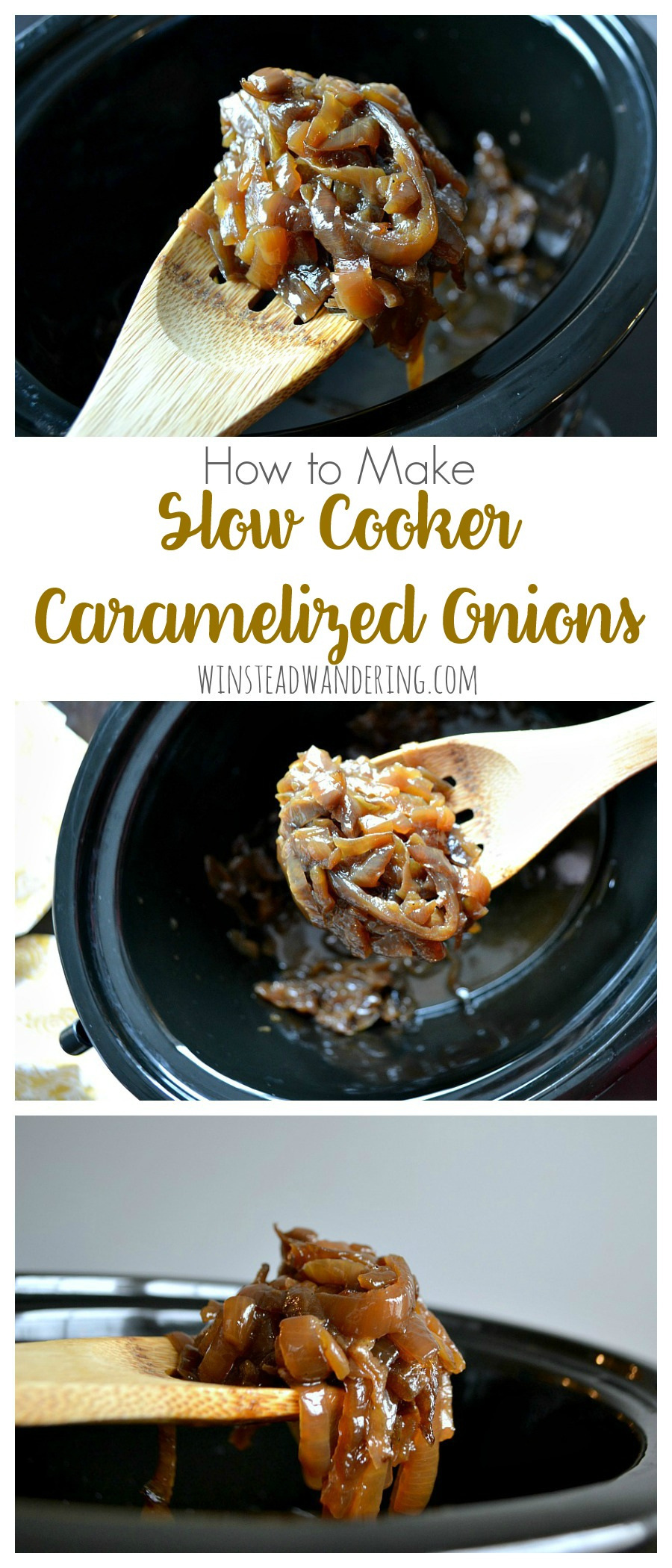 With their deep color and they're surprisingly sweet and appealing taste, you really need to know how to make slow cooker caramelized onions!