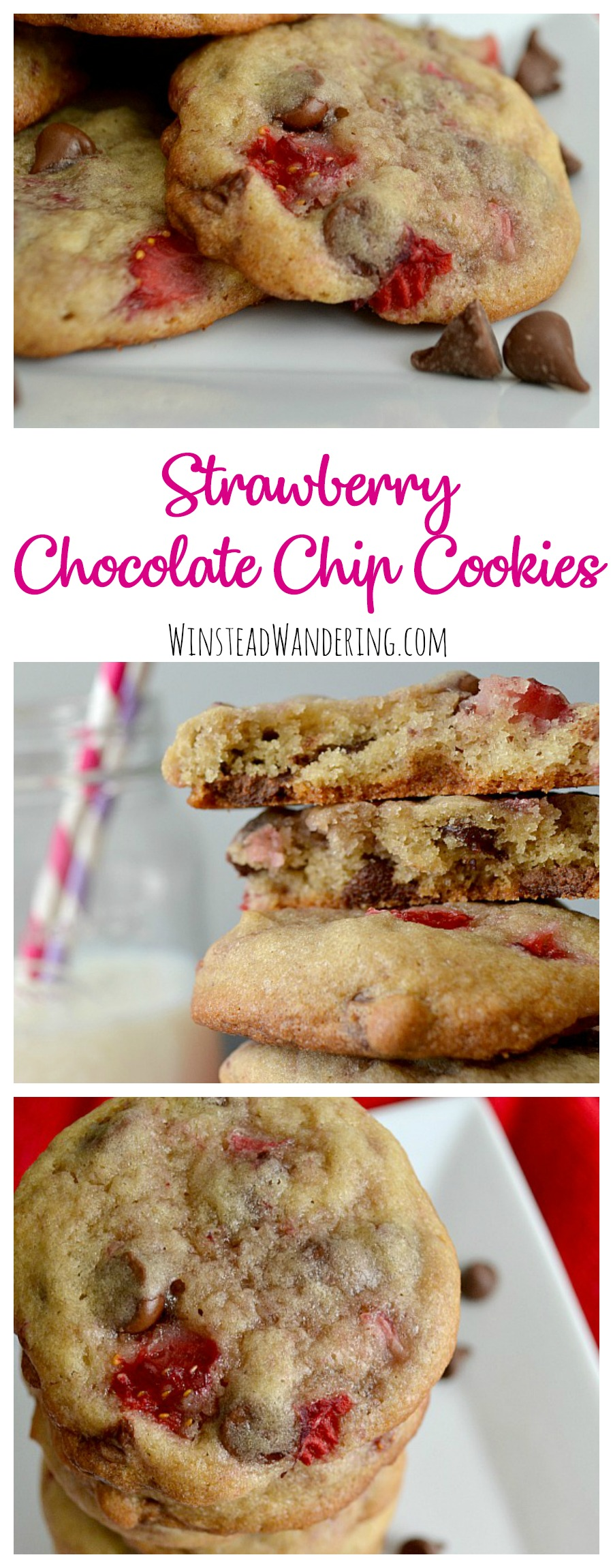 Add a whole bunch of chopped berries to a classic dessert recipe and you get these sweet, chewy, tart, and decadent Strawberry Chocolate Chip Cookies.
