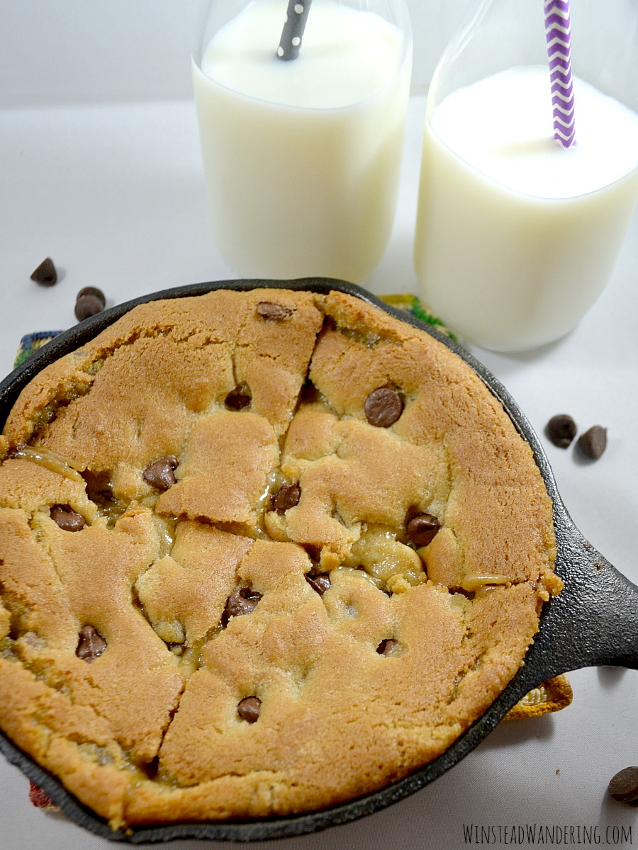 Made in one bowl and ready in under twenty minutes, this Chocolate Chip Skillet Cookie for Two recipe is gooey, rich, and irresistibly decadent.
