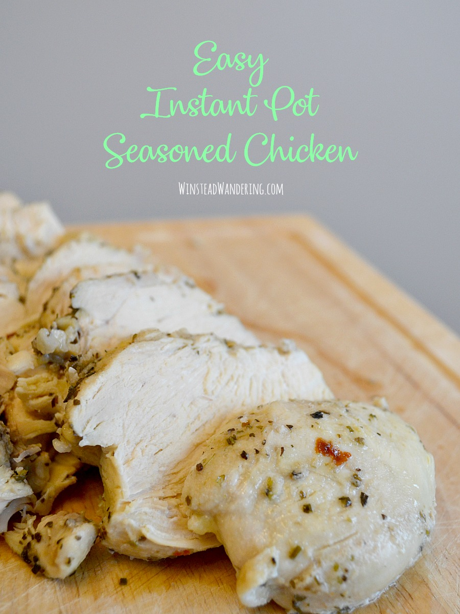 Did you know you can make Easy Instant Pot Seasoned Chicken? It's great for eating as-is, but it's also wonderful for using in recipes or freezing for later!