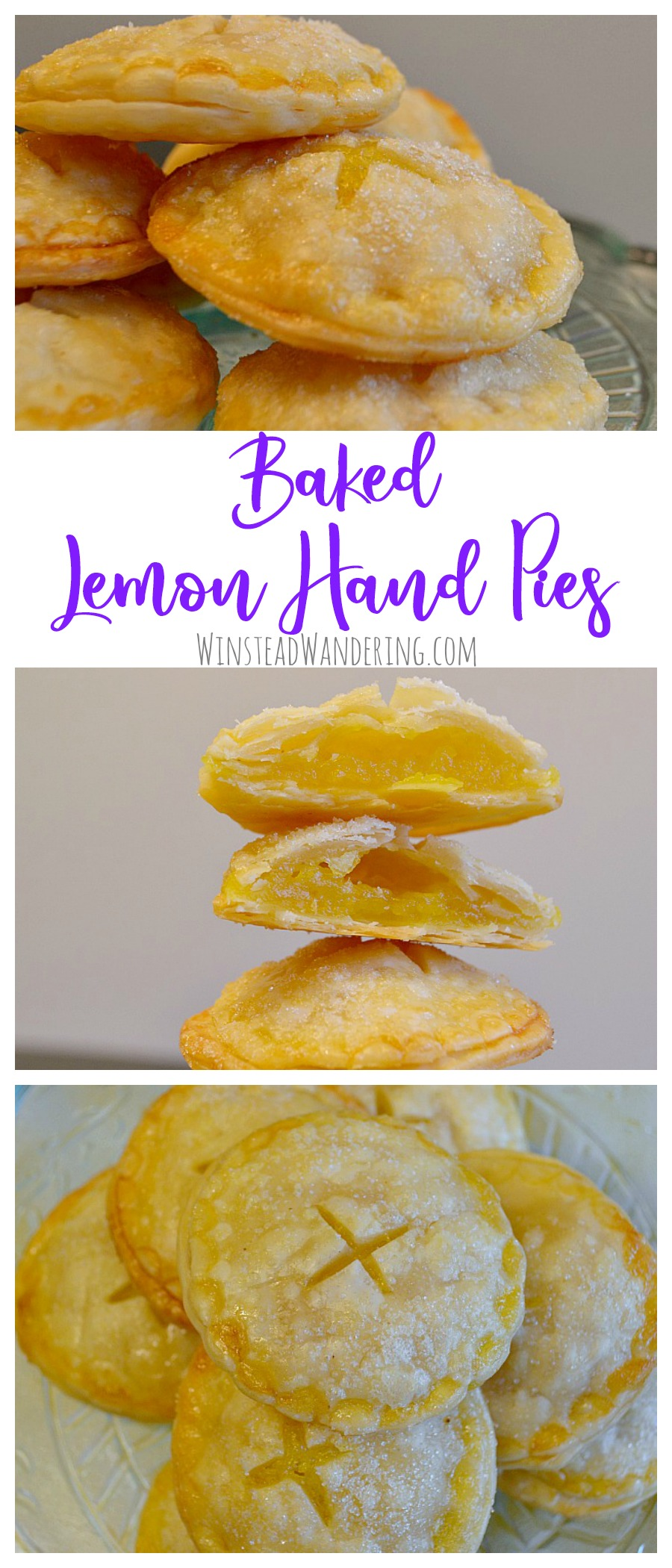 Filled with a perfectly sweet and tangy lemon curd and finished with a sprinkling of sugar, Baked Lemon Hand Pies are adorable, yummy, and super easy to make.