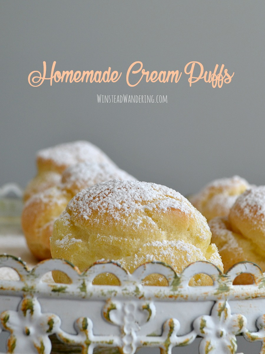 Don't be intimidated! Classic Homemade Cream Puffs, with their fluffy dough and their lighter-than-air filling, are surprisingly easy to make and totally worth the effort!
