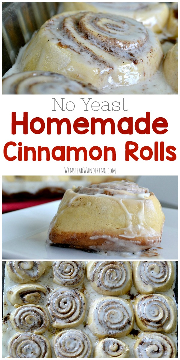 You don't have to choose between popping open a can or spending half your day tending to dough. Packed with gooey filling, smothered in rich glaze, and made without yeast, Homemade Cinnamon Rolls can be ready to enjoy in under an hour.