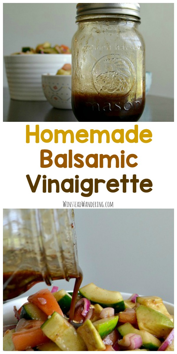 Homemade Balsamic Vinaigrette is super easy to make, it's cheaper than store-bought, and it can be used as a salad dressing, a marinade, a dip, and more!