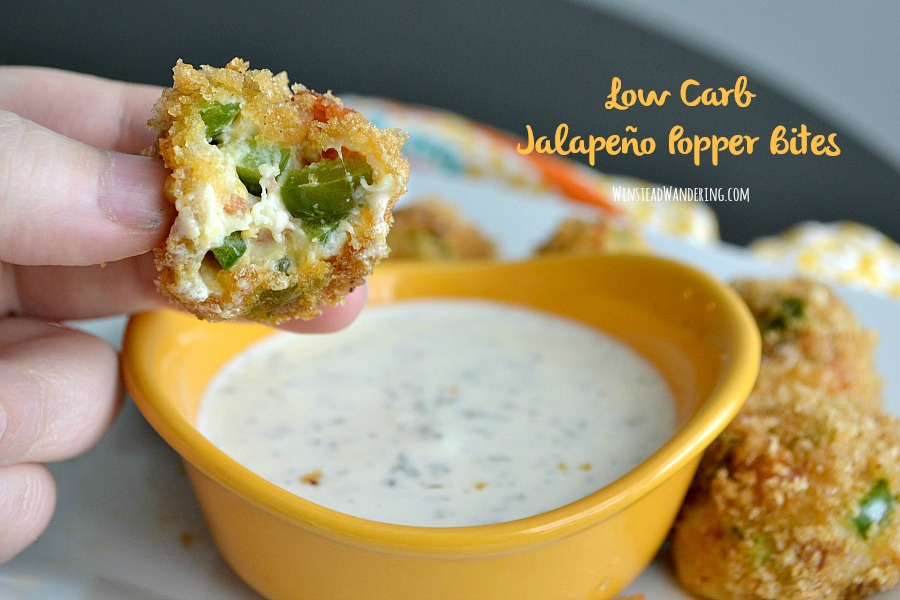 A creamy, cheesy, spicy Low Carb Jalapeño Popper Bites recipe that is just as pleasing to regular eaters as it is to low carb folks. It's simple to make and gluten-free, too!