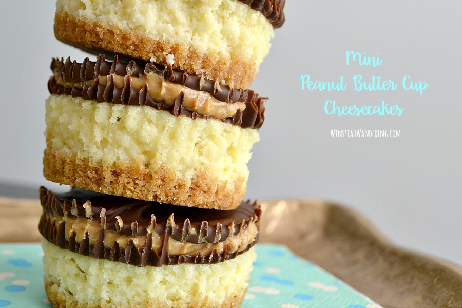 What do you get when you combine creamy cheesecake with rich and decadent homemade peanut butter cup bars? You get these Miniature Peanut Butter Cup Cheesecakes.