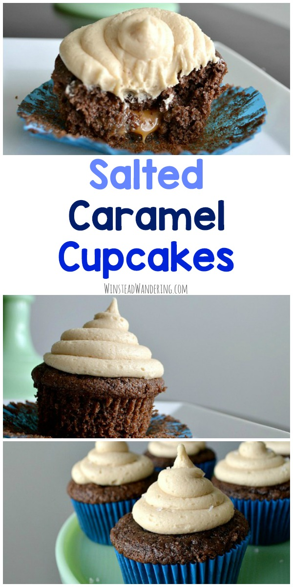With a rich brownie-like cupcake, smooth caramel filling, and a decadent from-scratch salted caramel frosting, these Salted Caramel Cupcakes will quickly become your new favorite treat.