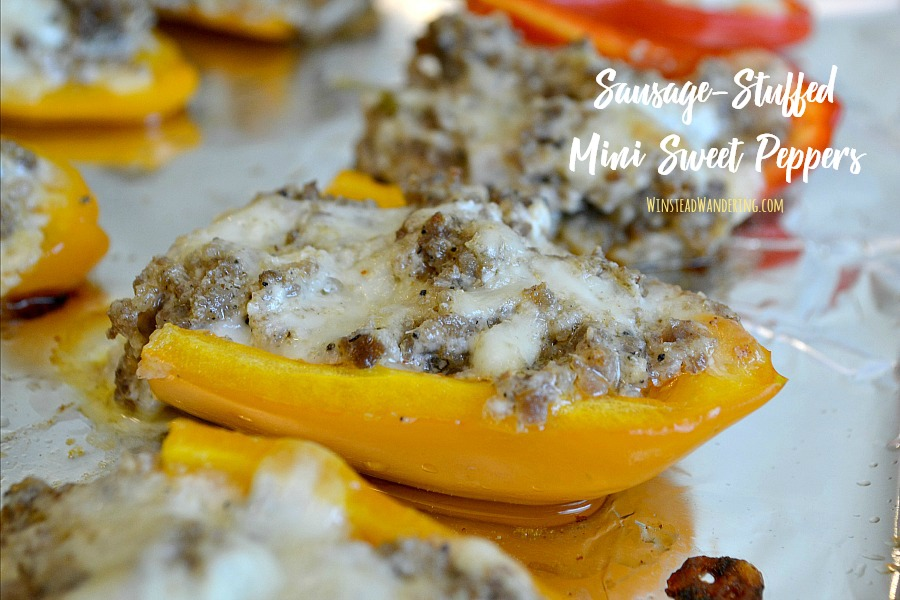 Looking for a snack that's satisfying to low carb eaters and non-low carb eaters alike? These spicy, cheesy, and perfectly crunchy Low Carb Sausage-Stuffed Mini Sweet Peppers will have everyone coming back for more.