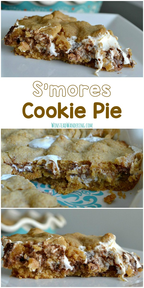 This S'mores Cookie Pie is perfectly gooey and rich, and it serves a crowd. Forget the charred marshmallows and the sticky fingers; dig in!